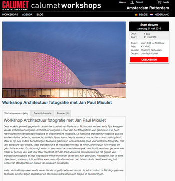May, 21, 2106 One Day Workshop at Calumet Rotterdam